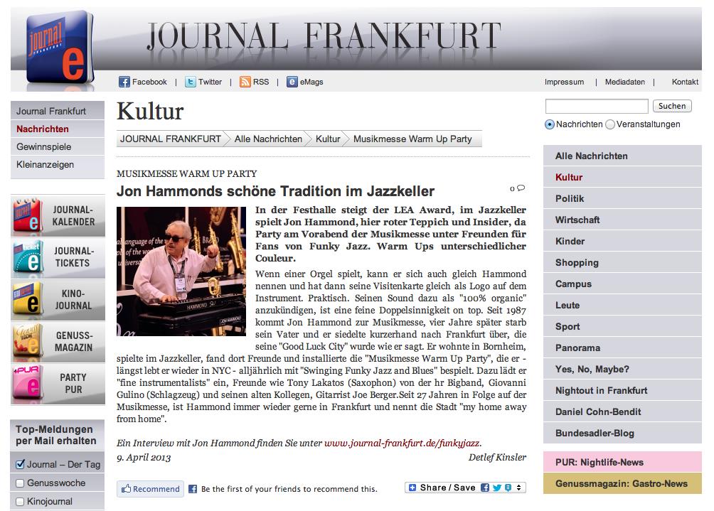 jon hammonds sch ne tradition im jazzkeller journal frankfurt kultur section by detlef. Black Bedroom Furniture Sets. Home Design Ideas