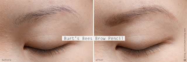 Burt's Bees Brow Pencil Review Swatch Before After in 1610 Brunette.