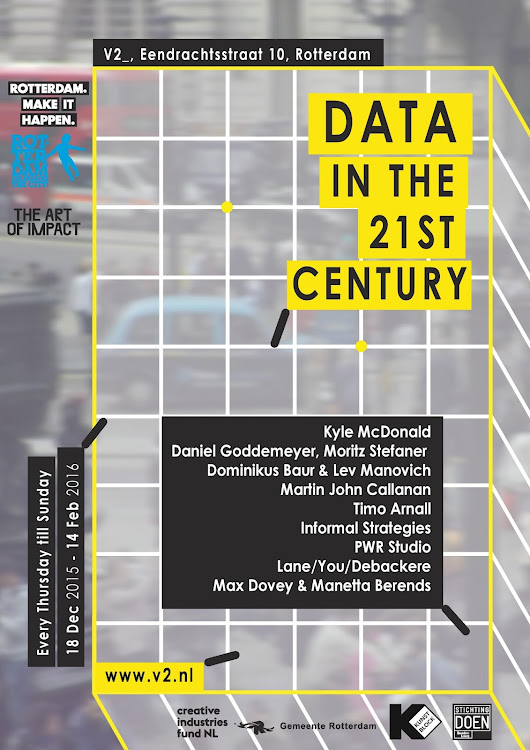 "Software Studies Initiative: Our ""On Broadway"" installation is shown in Data in the 21st Century exhibition in Rotterdam"