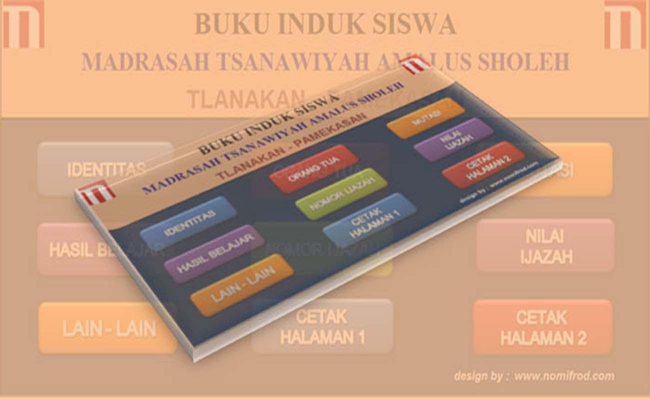 Download Gratis Aplikasi Buku Induk Siswa SMP MTs Format Excel