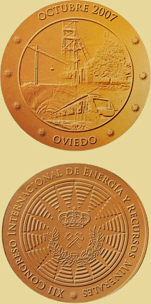 Medalla del XII Congreso de Energía y Recursos minerales, Oviedo 2007