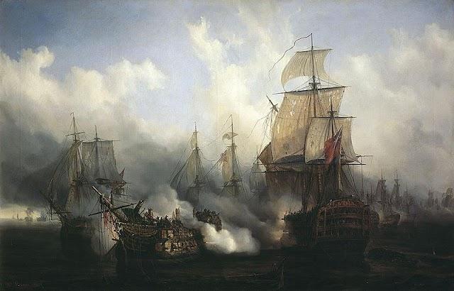 La batalla de Trafalgar