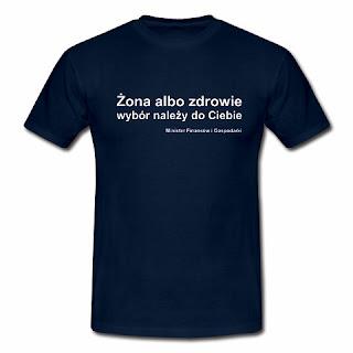 Koszulka Żona albo zdrowie