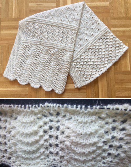 Blanket with Lacy Pattern - Free Tutorial
