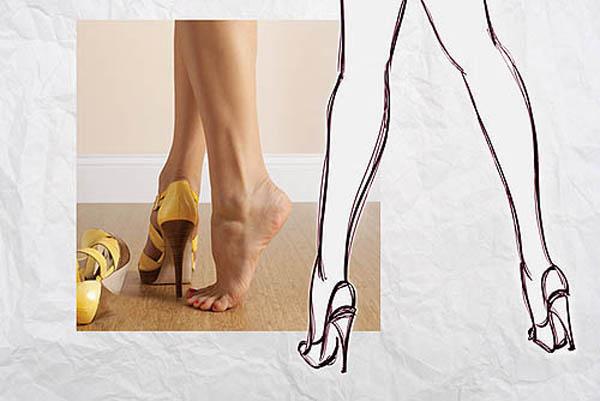 Memakai high heels untuk tampil seksi