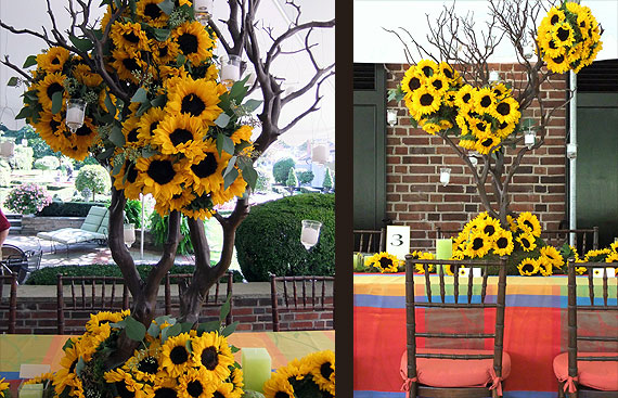 Sonal J. Shah Event Consultants, LLC: Sunflower Décor