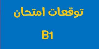 توقعات امتحان B1