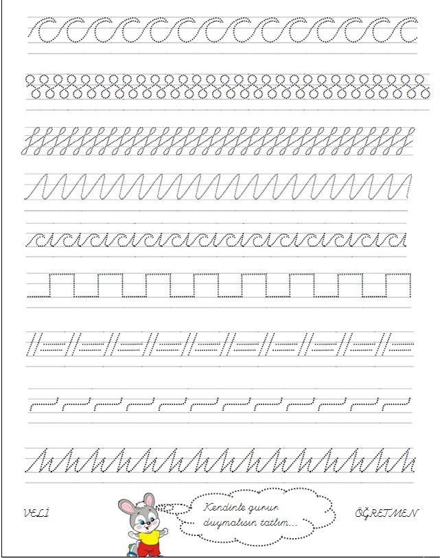 Okul öncesi öğretmeni Bir Ailenin Günlüğü çizgi çalışmaları