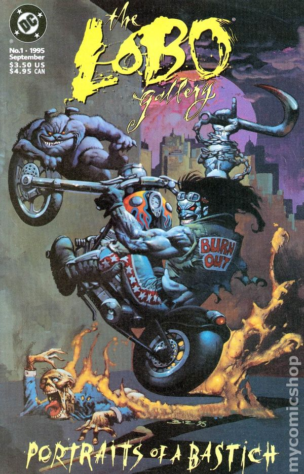 Simon Bisley - Lobo the Destroyer, Portrait of a Bastich