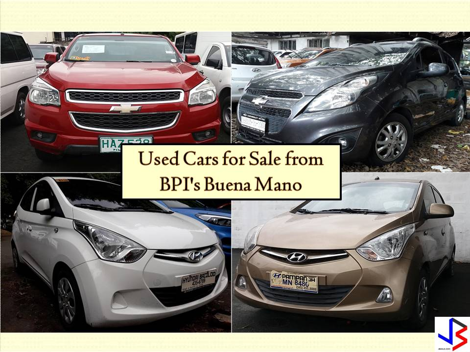 No doubt, buying a brand new car is expensive. But have you ever heard a used car for sale from different banks or financial institutions? Yes, there are many inexpensive and high-quality cars you can choose from the banks. Just, for example, the following used cars below are from Buena Mano's BPI where you can choose a pre-owned vehicle to buy. You can choose from popular brands such as Ford, Kia, Hyundai, Toyota, Nissan, among others. So if you are looking for a personal service vehicle or for your growing business, you may consider buying from cars for sale from the bank.   Pictures and information on this article are taken from the bank's website —buenamano.ph. Jbsolis.com is not affiliated nor connected with the bank. This post is for general purposes only. Any interested parties may directly contact the PS Bank.