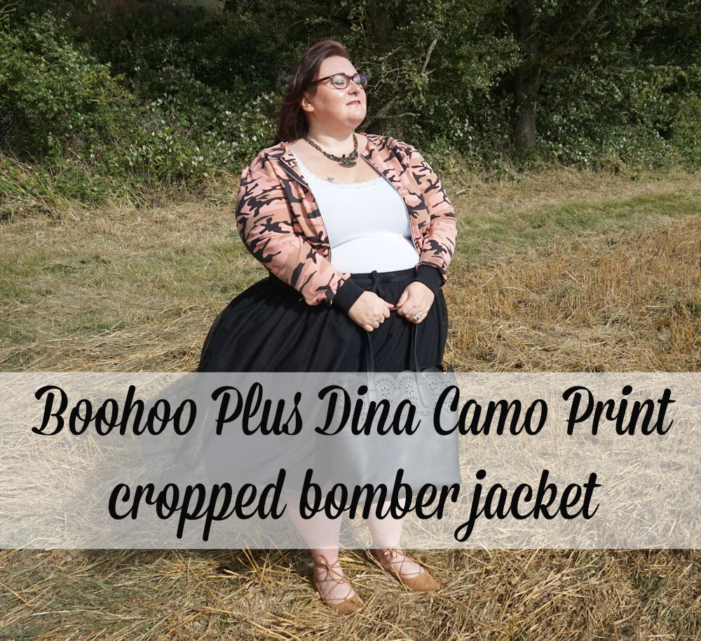 Boohoo-Plus-Dina-camo-print-bomber-cropped-jacket-military-trend-plus-size www.xloveleahx.co.uk