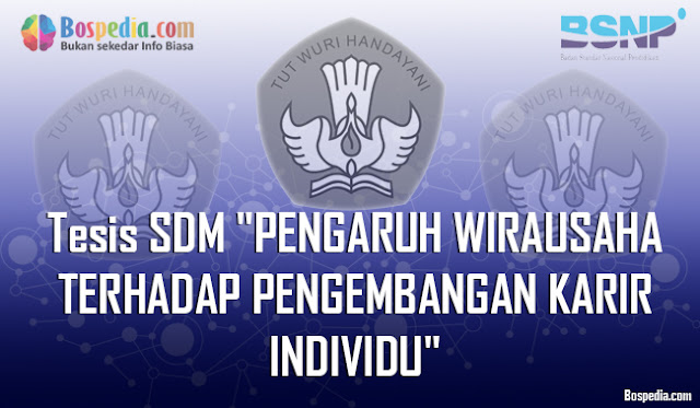 "Tesis SDM ""PENGARUH WIRAUSAHA TERHADAP PENGEMBANGAN KARIR INDIVIDU"""