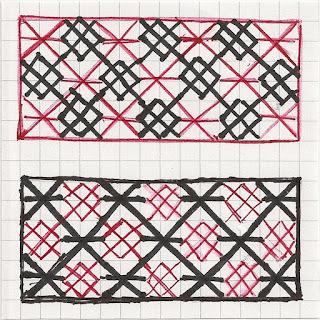 diaper patterns in 2 colors