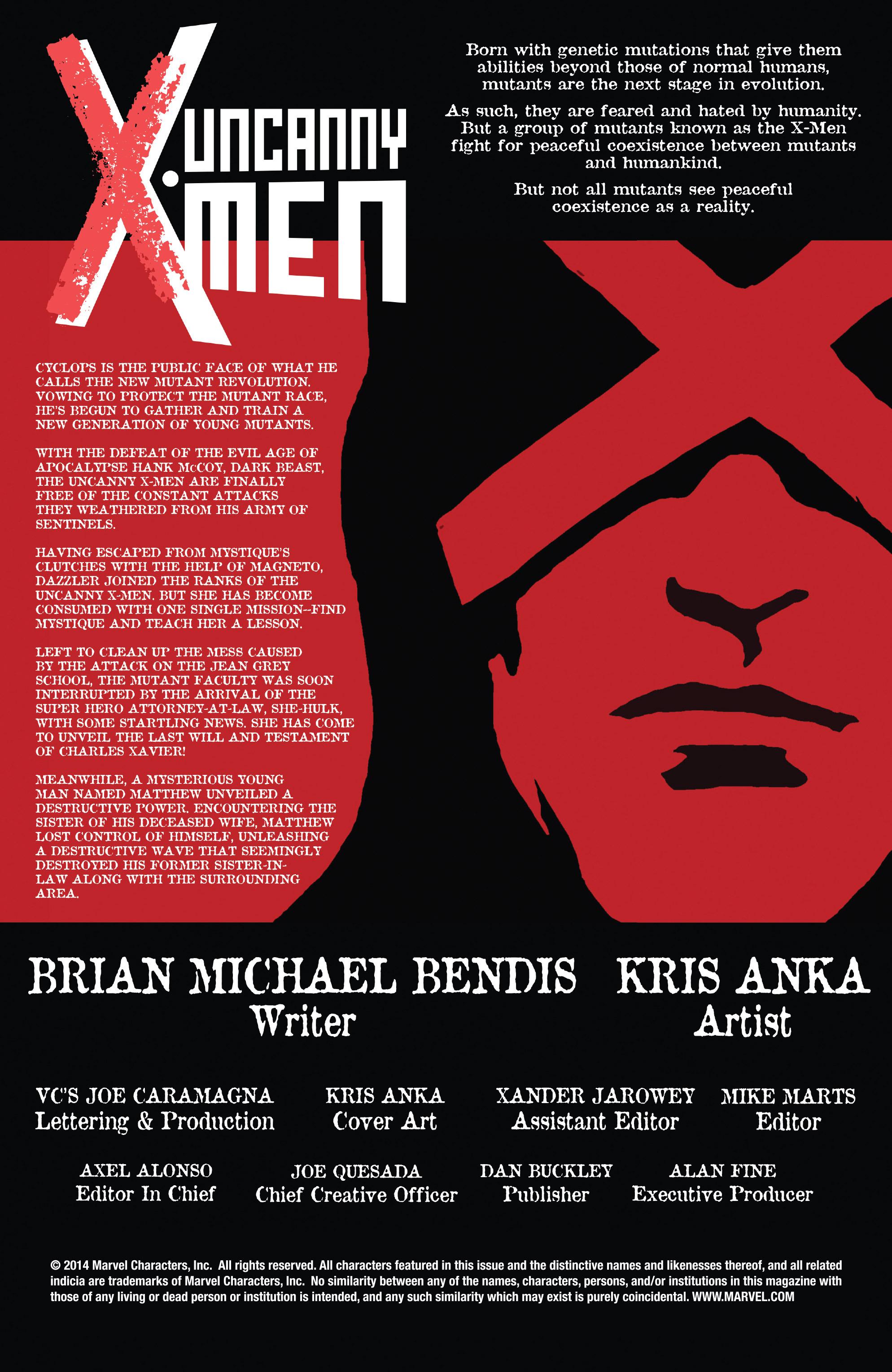 Read online Uncanny X-Men (2013) comic -  Issue #24 - 2