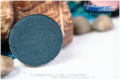 UNDER PRESSURE -  Eyeshedow ombretti Swatches, Comparazione  - MERMAID COLLECTION - NABLA COSMETICS