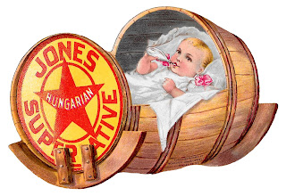 baby cradle barrel antique image illustration advertisement clipart