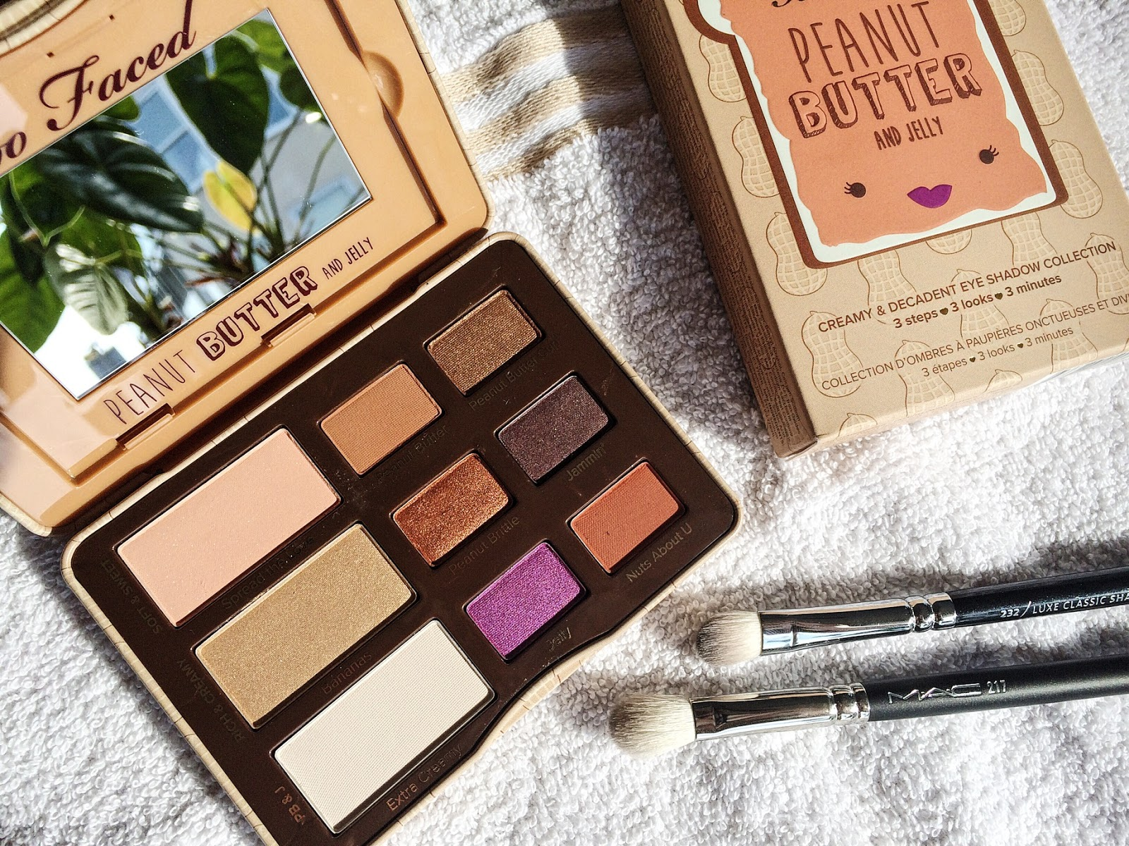 Peanut butter and jelly eyeshadow palette | Too Faced
