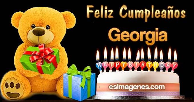Feliz Cumpleaños Georgia
