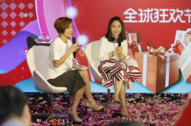 Cici Cai, Tmall World Southeast Asia Marketing Manager with Emcee Chui Ling