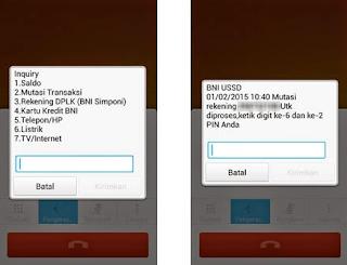 cek mutasi rekening BNI via Mobile Banking