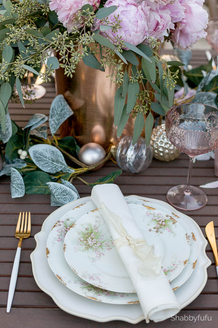 limoges blush flowers dinnerware