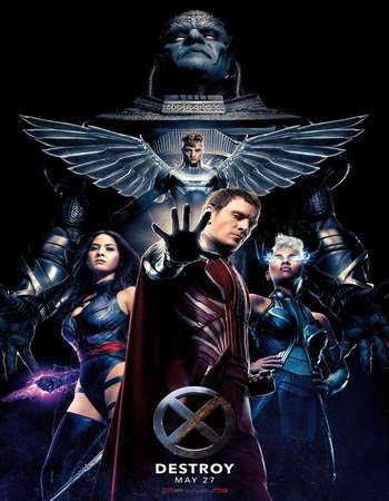 Poster Of X-Men Apocalypse 2016 English 500MB BRRip 720p ESubs HEVC Free Download Watch Online Downloadhub.Net
