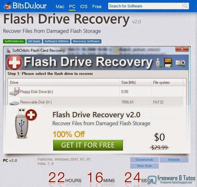 Offre promotionnelle : SoftOrbits Flash Drive Recovery gratuit !