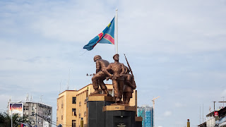 The memorial in the capital of the DRC at the forescom roundabout