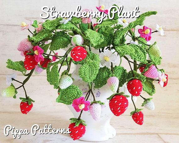 strawberry plant crochet pattern