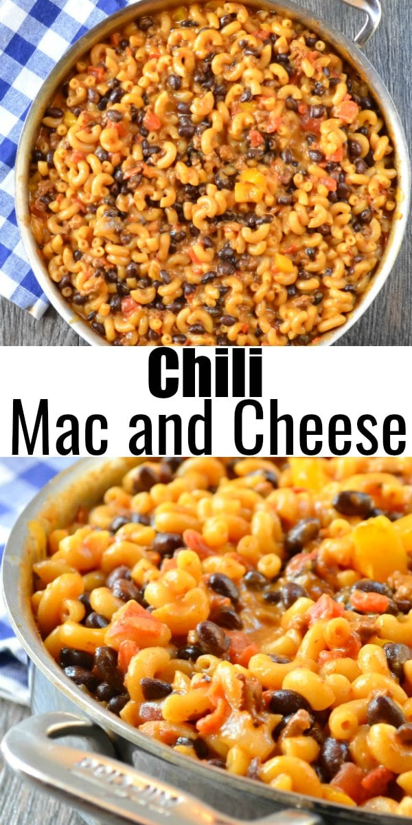 Easy Chili Mac and Cheese recipe is a simple one pot dinner recipe in under 30 minutes from Serena Bakes Simply From Scratch.