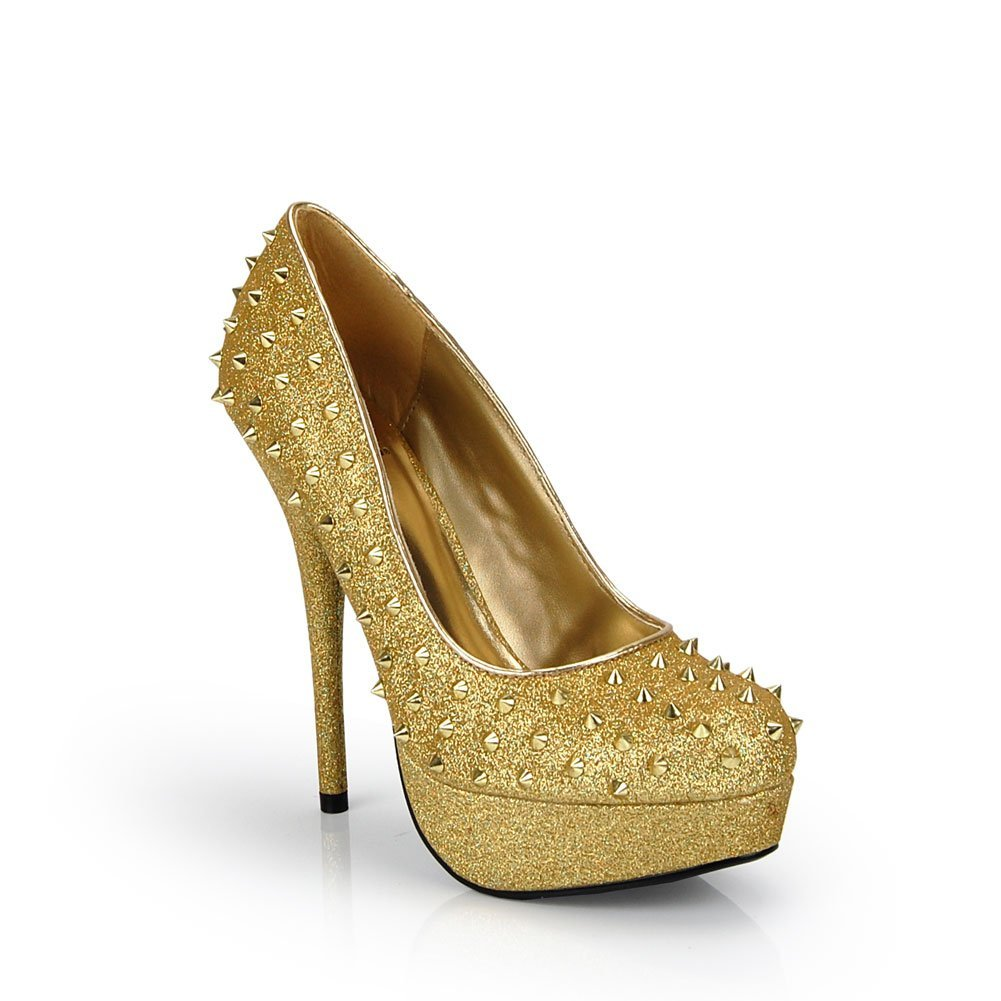 Gold Wedding Shoes With Criss Cross