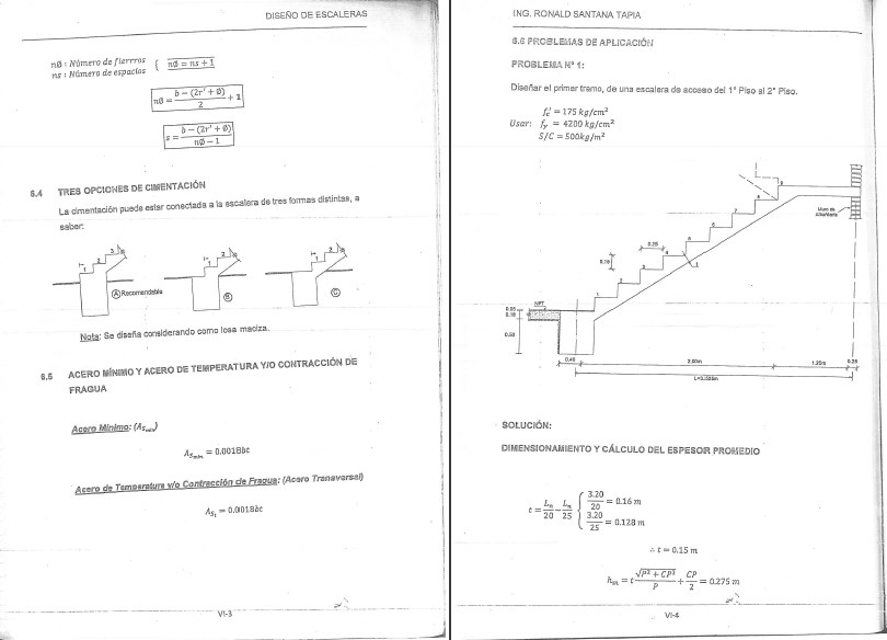 Concreto armado ing ronald santan tapia aporte a la for Construccion de escaleras de concreto armado
