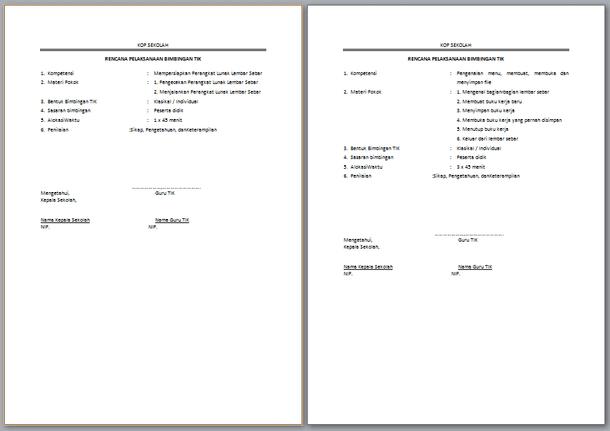 Perangkat Bimbingan TIK SMA SMK - RPB (Rancangan Program Bimbingan)