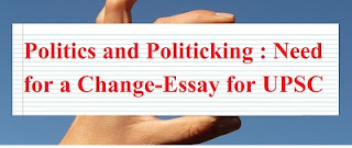 Essay on Politics and Politicking