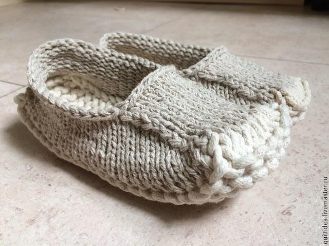 kapcie na drutach - tutorial