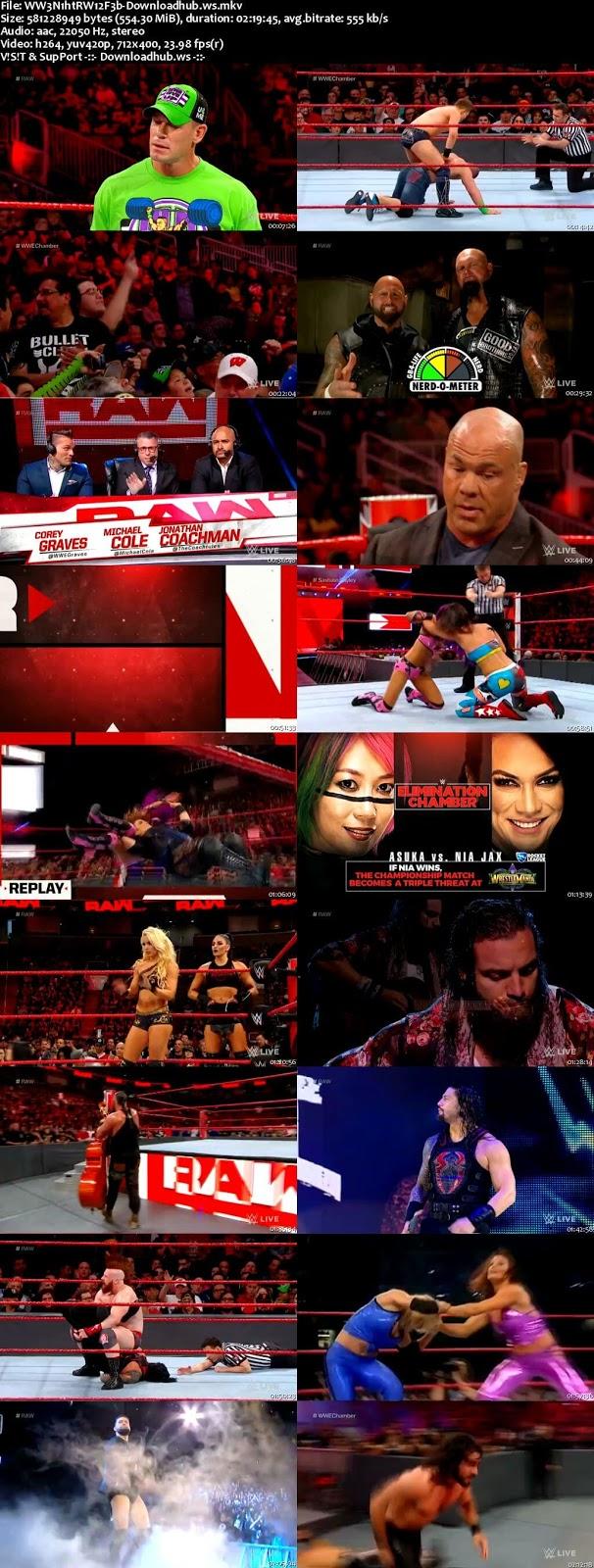 WWE Monday Night Raw 12 February 2018 480p HDTV Download