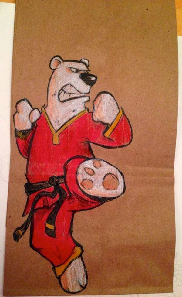 funny lunch bag illustrations