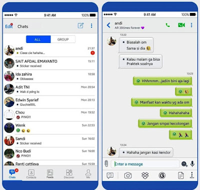 Screenshot BBM Mod iPhone Versi 3.3.4.48 Apk