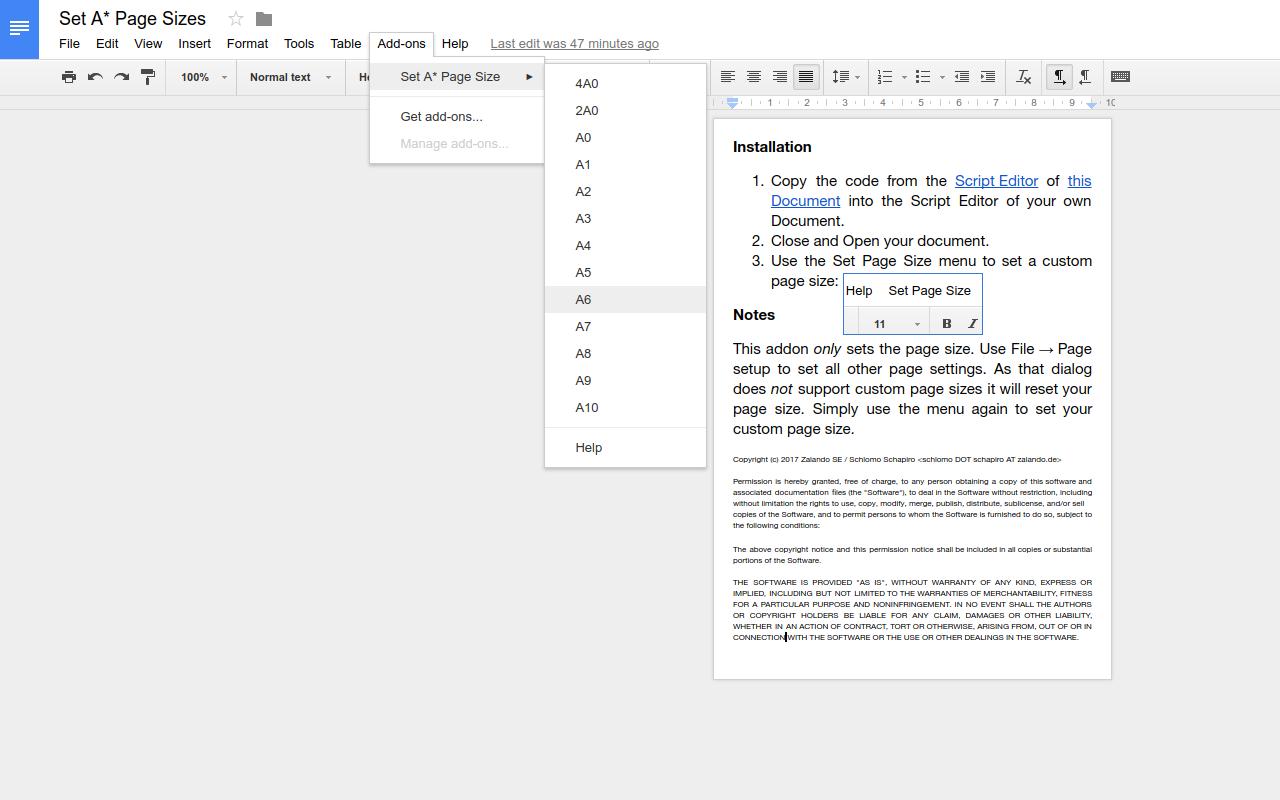Google Docs Image Size