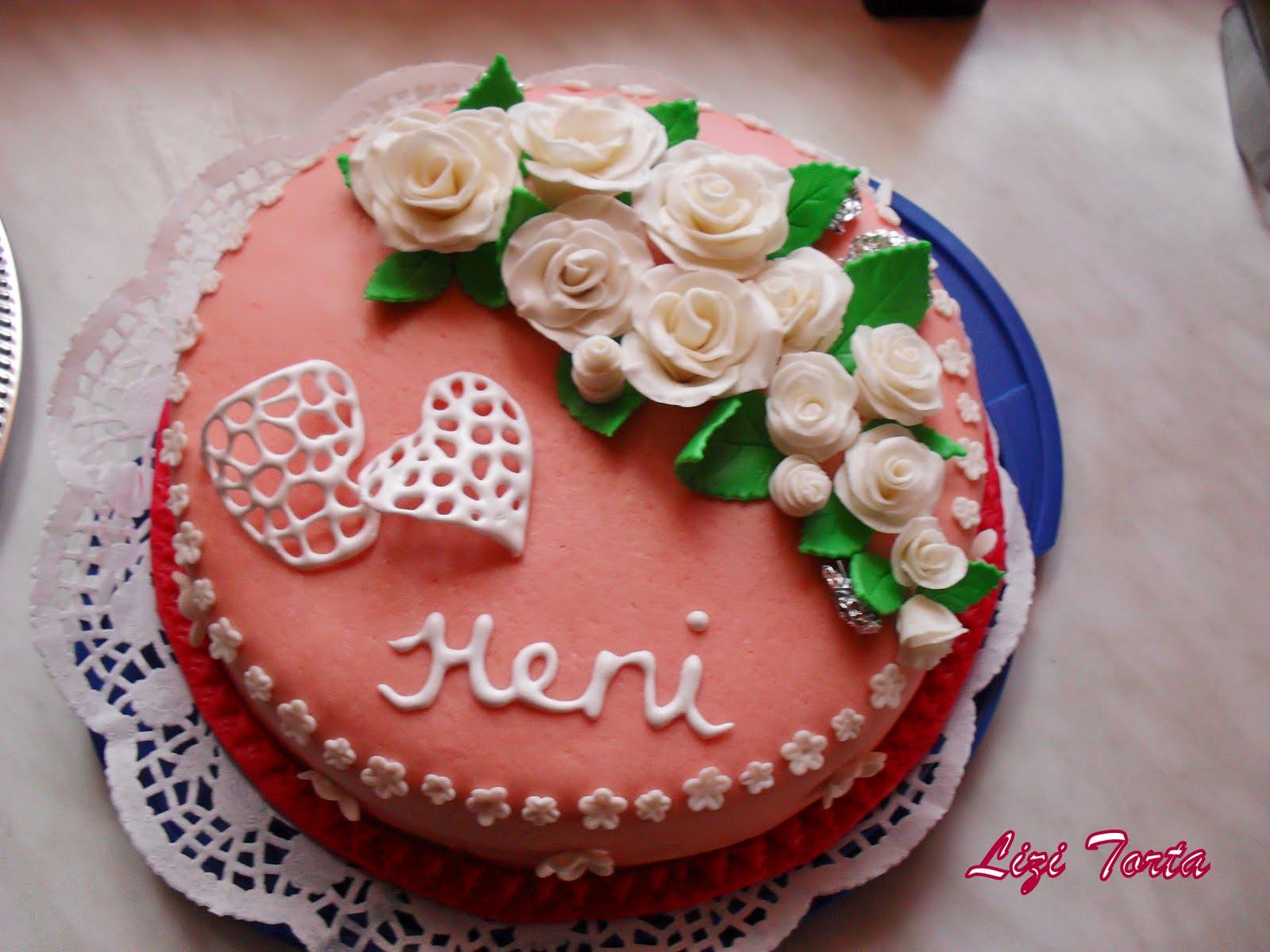 szülinapi torta barátnőnek Lizi Tortái: Születésnapi Rózsás torta szülinapi torta barátnőnek