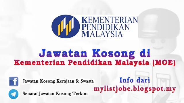 Jawatan Kosong Di Kementerian Pendidikan Malaysia Moe November 2016 Appjawatan Malaysia