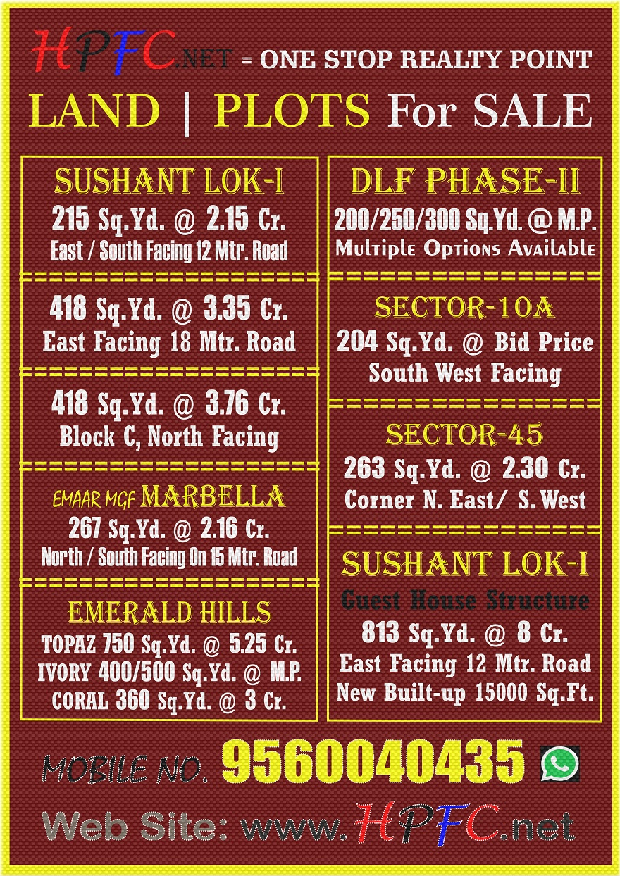 Premium Location Residential Plot in Gurugram (Gurgaon)