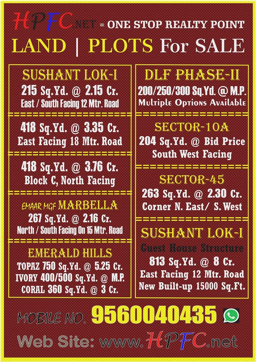 Premium Location Residential Plot in Gurugram (Gurgaon)