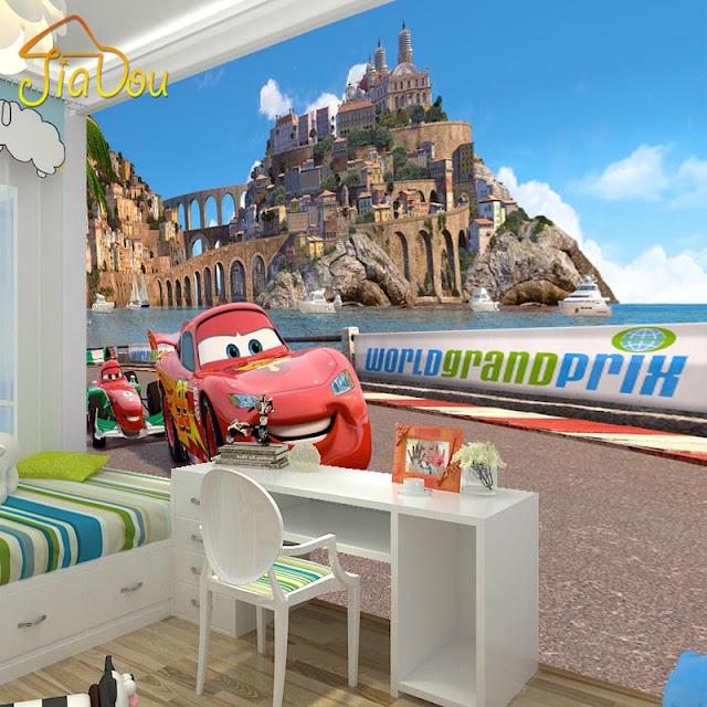 Barntapet Pojke Tapet Barnrum Pojke Fototapet Barn Barntapeter Disney Cars Bilar