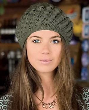 Crochet Hat, Woman, Spiral