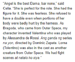 "Netizens Approve -- ""Angel is the Best Darna Ever!"" - Celia Rodriguez"
