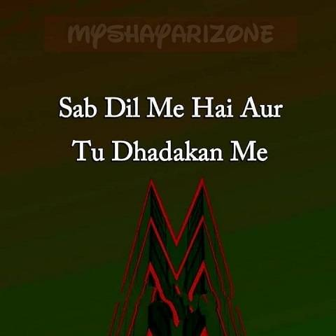 2 Lines Dhadkan Shayari Love SMS Whatsapp Status in Hindi