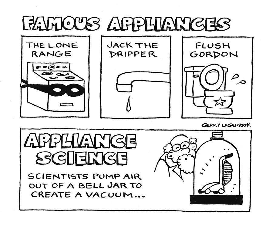 Famous Appliances, appliance cartoon