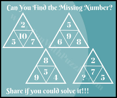 Fun math triangle IQ riddle