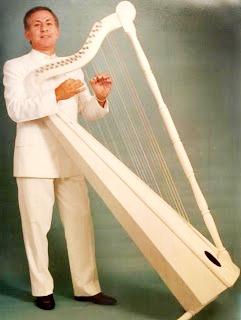 Foto de persona masculina tocando el arpa
